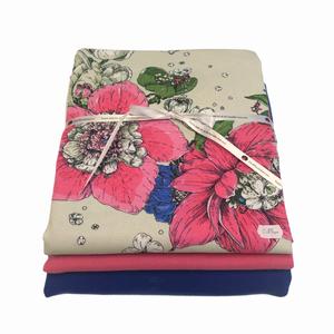 Bilde av Stoffpakke - Nuppu flowers pink/cobolt