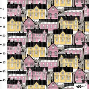 Bilde av Paapii Design - Organic jersey, Old Town Light pink/yellow