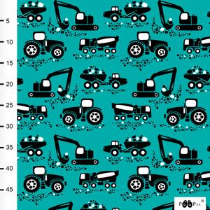 Bilde av Paapii Design - Organic jersey, Machines turquoise
