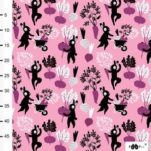 Bilde av Paapii Design - Organic jersey, Harvest Dance Light pink/purple