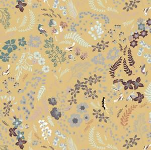 Bilde av Paris Organic Poplin - Mix Flowers Dusty Yellow