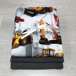 Bilde av Stoffpakke - Gravemaskiner oransje/grå