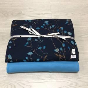 Bilde av Stoffpakke - Ocean flowers havblå