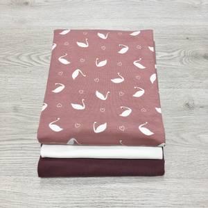 Bilde av Stoffpakke - Svane rosa