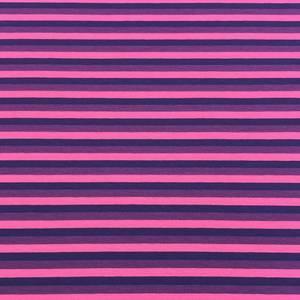 Bilde av Isoli Striper organic - Hot rosa, plommelilla, marineblå