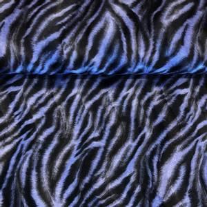 Bilde av Imitert pels - Purple animal stripes