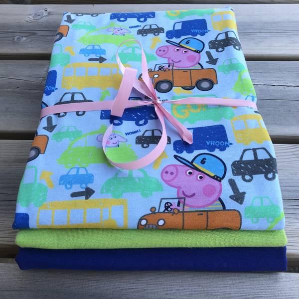 Stoffpakke Peppa Gris Wroom Lysblå