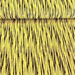 Bilde av Jersey Jacquard - Vertical Stripes Yellow