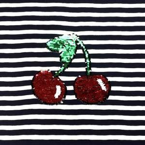 Bilde av Jersey rapport - Vendbar paljetter Cherry (65cm)