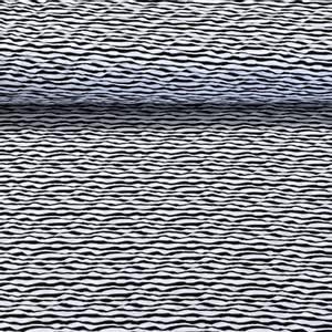 Bilde av Jersey Jacquard knit - Waves Black & White