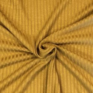 Bilde av Ribbed Knit Viscose - Mustard
