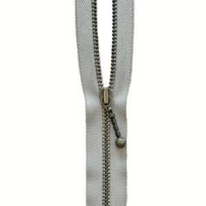 Bilde av YKK Delbar Antikk metall glidelås - Beige 60-70cm