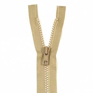 Bilde av YKK Delbar plast glidelås - Beige 30-75cm