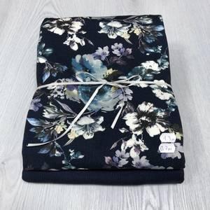 Bilde av Stoffpakke - Aquarel Flowers Navy