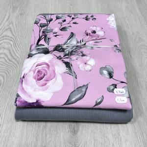 Bilde av Stoffpakke - Vårblomster Rosa/Grå
