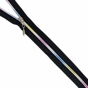 Bilde av Delbar Regnbue glidelås 40 - 60 cm sort