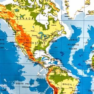 Bilde av Jersey - World Map