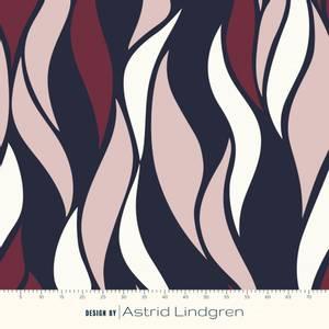 Bilde av Astrid Lindgren Merinoull - Vertical Waves Rouge
