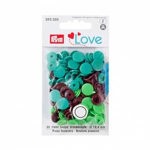 Bilde av Prym trykknapper - Grønn, lys grønn, brun 30pk