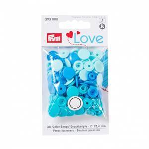 Bilde av Prym trykknapper - Blå, turkis, mint 30pk