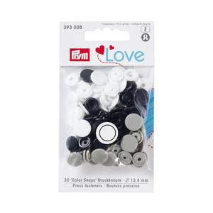 Bilde av Prym trykknapper -Hvit, marineblå, grå 30pk