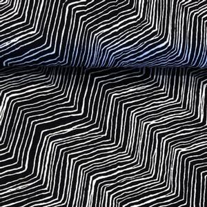 Bilde av Viskosejersey - Waves Ink