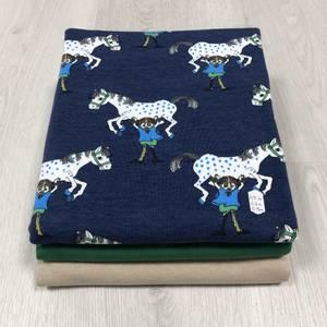 Bilde av Stoffpakke - Pippi Horse Dark Blue