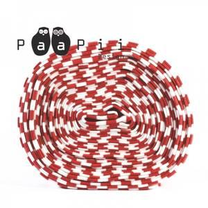 Bilde av Paapii ribb - striped red/white organic