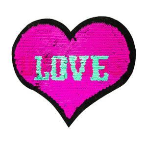 Bilde av Reversibel patch - Love/Unicorn