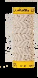 Bilde av Amann Mettler elastisk sytråd - Naturhvit 1000