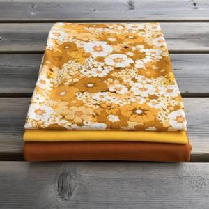Bilde av Stoffpakke - Blomstereng Gold