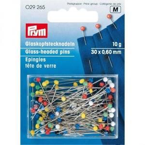 Bilde av Prym knappenåler - glassheaded 10g 30x0,60mm