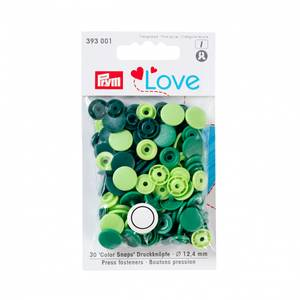 Bilde av Prym Trykknapper - Mørk grønn, grønn, limegrønn 30pk
