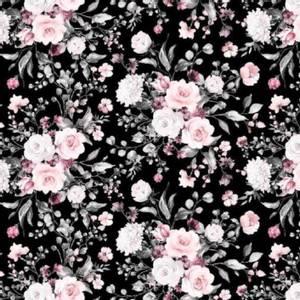Bilde av Poplin Cotton - Vårblomster sort