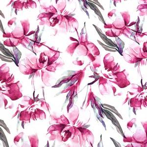 Bilde av Jersey - Aquarel Flowers Hot Pink