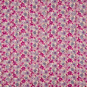 Bilde av Cotton Poplin pointelle - Wobbly Flowers Fuschia