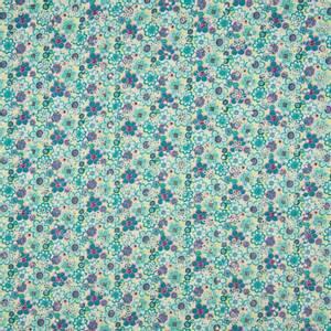 Bilde av Cotton Poplin pointelle - Wobbly Flowers Turquoise