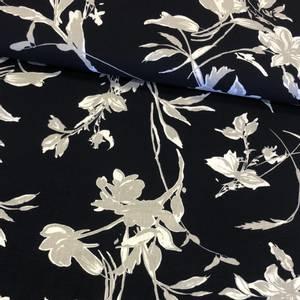 Bilde av Vevd Rayon - Flowers Deep Blue