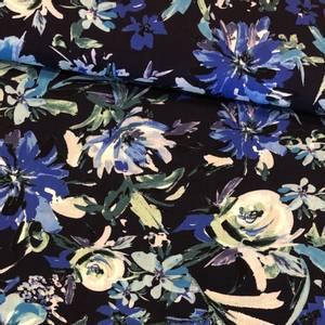 Bilde av Vevd Rayon - Flowers Blue