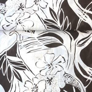 Bilde av Bomull-viskose - Flowers brown
