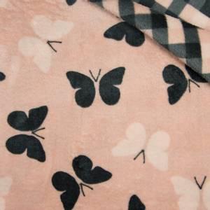 Bilde av Luksusfleece double - Butterfly dusty pink