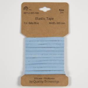 Bilde av 3 m Elastikk 5 mm - Babyblå