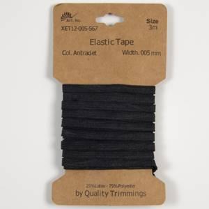 Bilde av 3 m Elastikk 5mm - Koksgrå