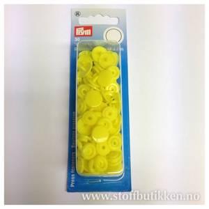 Bilde av Prym trykknapper - 393107 rund gul blek