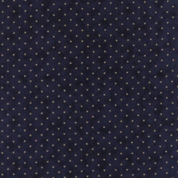 Bilde av 45 cm Lexington - beige 5 mm stjerner på mørkeblå