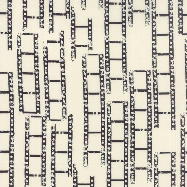 Bilde av Reel Time - sorte 3 cm brede 'negativ-striper' på offwhite
