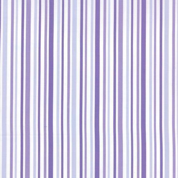 Bilde av 50 cm Hi-De-Ho - 4-7 mm brede striper i flere lillafarger på hvi
