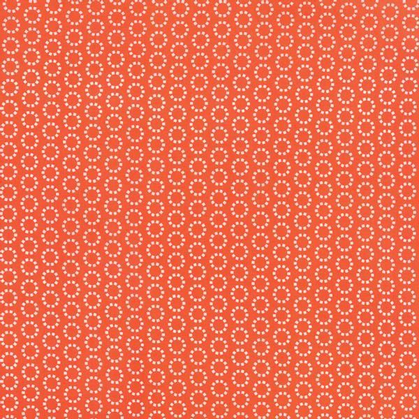 Bilde av 60 cm Best Day Ever - 1 cm hvite rundinger på oransje