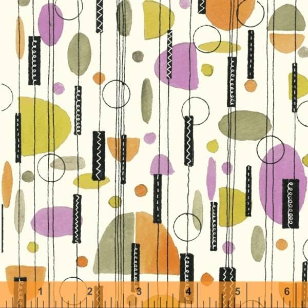 Bilde av 50 cm Flirt - multifarget mønster med 3 cm lampeskjerm og dots p