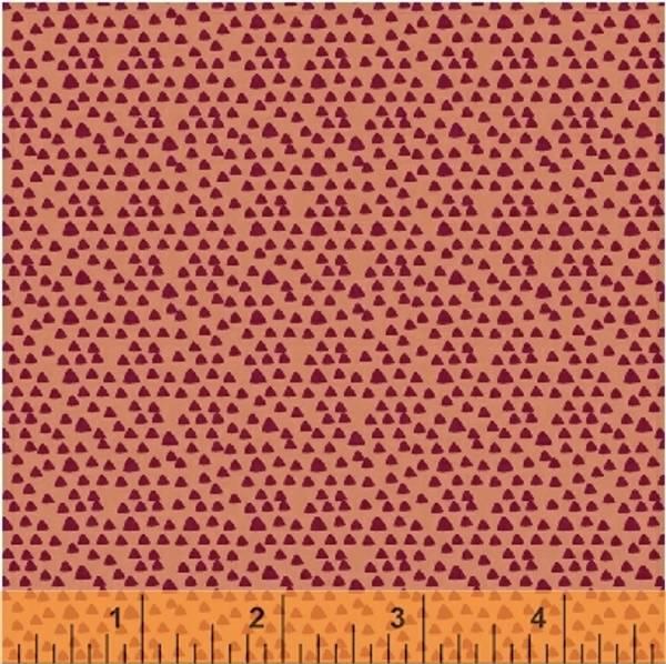 Bilde av Little Tinies - 2 mm mørkpinke trekanter på støvet aprikot